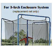 JumpKing - 12-ft (3-Arch or 6-Pole) Enclosure Netting with Straps and Ropes