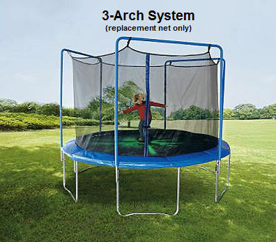JumpKing - 15-ft (4-Arch) Enclosure Netting with Straps and Rope