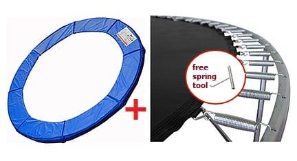 15 Ft Ultra Premium Trampoline Pad Amp Trampoline Mat Combo