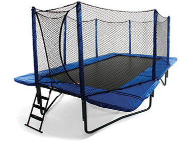 8 X 14 Rectangle Trampoline Combo Round Trampolines