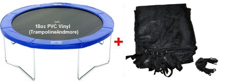 14-ft Ultra Premium Pad -and- Trampoline Net  *Combo*